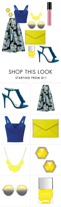 """""""finding dory"""" by emilymclouse ❤ liked on Polyvore featuring BCBGeneration, ADAM, Miss Selfridge, Rebecca Minkoff, ABS by Allen Schwartz, Matthew Williamson and Revlon"""