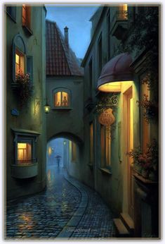 A Little Story. Scenes of Realistic Night Time Paintings. See more art and information about Evgeny Lushpin, Press the Image. Creation Image, Zaha Hadid Architecture, Indian Architecture, Beautiful Places, Beautiful Pictures, Time Painting, Fantasy Places, Night Time, Concept Art