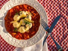 gli gnudi e molho rústico de tomate — o chef e a chata