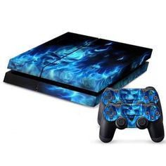 PS4 Console Skin Skull - Includes 2 Wireless Remote Controller Skins + 1 Game Console Skin Waterproof -  #pinterestgasm.com BOGO!!
