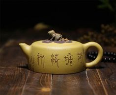 Certified Teasenz for purity and authenticity: A Duan Ni clay teapot with a size of 170 ml / 5.7 oz, which is perfect for 2-3 person brewing session.
