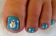 Snowman pedicure