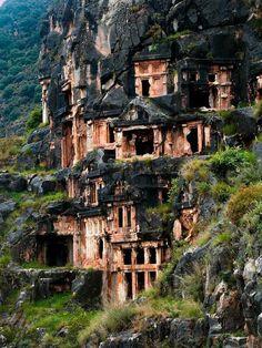 Lycan Tombs in Myra, Turkey