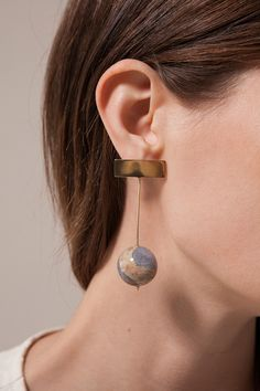 KathleenWhitaker Chalcedony earrings