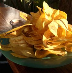 I'm dreaming about these fried plantain chips from Sol Food in San Rafael, California...