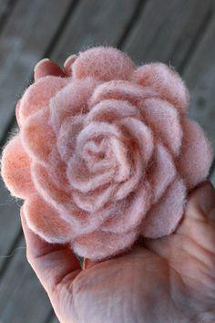 wet felted flower #Artsandcrafts