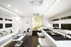 White Modern Motorhome Interior Concept