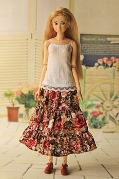 Layered Skirt for Momoko doll Unoa Quluts Light Pullip