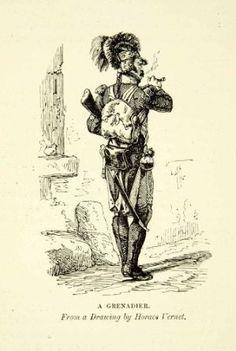 A grenadier. 1880 (orig. Horace Vernet).