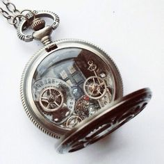 """Do you see the TARDIS hanging out in the background? :D ~Doctor Who Pocket Watch Necklace """"The Light of Distant Stars"""" Artemis, Pocket Watch Necklace, Dr Who, Geek Chic, Tardis, Geek Stuff, Bling, Jewels, My Style"""