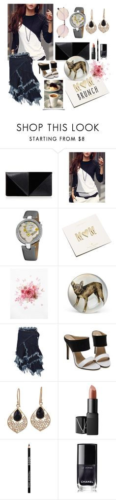 """""""Brunch with Mom"""" by linmari ❤ liked on Polyvore featuring UN United Nude, Akribos XXIV, Kate Spade, John Derian, Marques'Almeida, NOVICA, NARS Cosmetics, Chanel and Sunday Somewhere"""