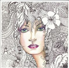 The World's Best Photos of doodle and zentangle Zentangle Drawings, Doodles Zentangles, Zentangle Patterns, Art Drawings, Easy Zentangle, Zen Doodle, Doodle Art, Arte Sharpie, Tangle Art
