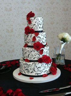 red and white wedding cakes 2017 wedding ideas magazine pertaining to black and white wedding cakes #WeddingIdeasBlackAndWhite