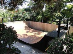 Skateboarding in the backyard I want it in my garden.