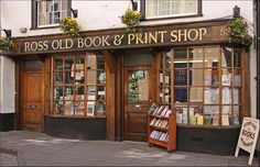 Ross Old Book & Print Shop. 51 & 52 High Street,  Ross-on-Wye, HR9 5HH  UK, +44 1989 567458