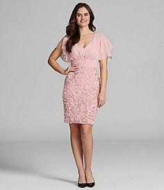 JS Collections FlutterSleeve Soutache Dress #Dillards