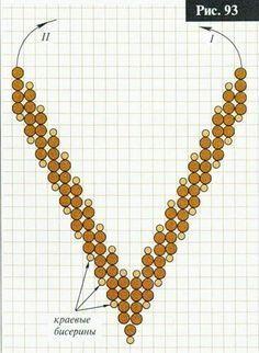 v-shape RAW schema ~ Seed Bead Tutorials