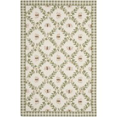 Keep your home alive and buzzing with this bumblebee-themed hand-hooked wool rug. Constructed from pure virgin wool pile, this elegant rug provides your feet with unmatched softness and comfort. The ivory background is sure to brighten up any room.