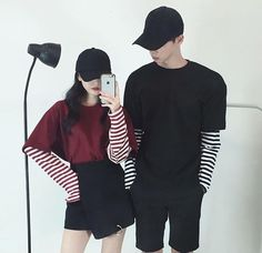 ▪ ulzzang boys and girls. Matching Couple Outfits, Matching Couples, Korean Street Fashion, Asian Fashion, Style Fashion, Couples Assortis, Korean Couple, Ulzzang Couple, Fashion Couple