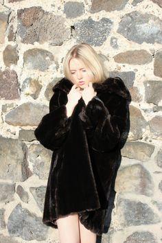 Brown Faux Fur Coat | Vintage 1960s | Upon A Find