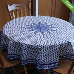 Round Paisley Screen Printed Tablecloth $49.95