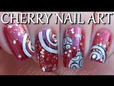 Tuto nail art noel - boules de noel et paillettes Nail Art Designs, Cherry Nail Art, Nail Art Noel, Perfect Nails, Nail Arts, Cute Nails, Makeup Tips, Manicure, Glitter