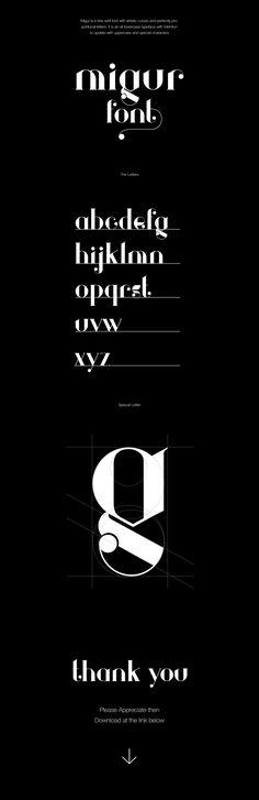 Migur Free Font on Behance