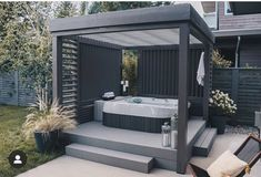 Hot Tub Gazebo, Hot Tub Backyard, Hot Tub Garden, Small Backyard Pools, Backyard Patio Designs, Jacuzzi Outdoor, Outdoor Spa, Hot Tub Privacy, Hot Tub Room