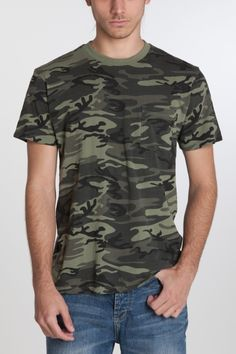#Menswear #ShortSleeve #GraphicTee $32 CAMO POCKET KNIT TOP