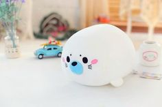 small new white seal toy cartoon Foam particles seal doll gift about 20cm