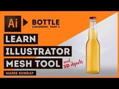 Realistic 3D Bottle Part 02 // Illustrator Mesh Tool 2018 - YouTube