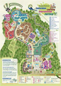 The map of Taipei Zoo
