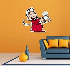 "Swee'Pea Popeye the Sailor Swee Pea Wall Decor Sticker Decal 22""X22"""