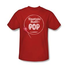 Tootsie Roll Cherry Pop Tee | Vintage Candy T-Shirts | RetroPlanet.com