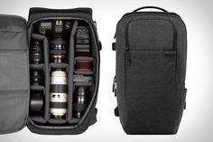 "Incase DSLR Pro Pack ($150). This top-of-the-line pack offers compartments for an iPad and a 15"" MacBook Pro, straps to attach a collapsible tripod, heavily-padded shoulder straps, a compartment for your iPhone — or your point-and-shoot companion — and a mesh back panel"