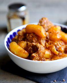 #Recette #Sauté de #veau aux #pommes de terre et #épices douces  #SautéDeVeau #PommesDeTerre