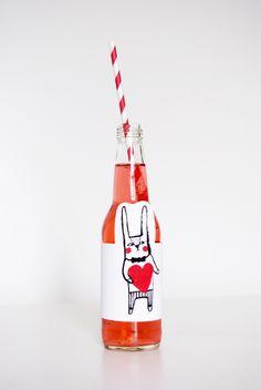 MerMag Valentine Printable Soda Label