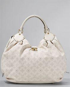 Louis Vuitton Ivory Mahina XL Hobo