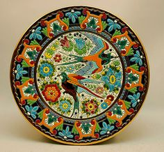 Hand decorated Spanish Ceramic dish