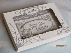 Ligaya's Creativity Zone: Spellbinders Card - Radiant Rectangle Birthday Card