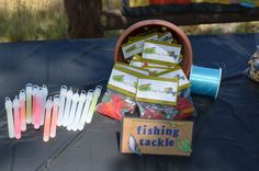 fishing tackle party favor