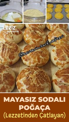 Dinner Rolls Easy, Birthday Cake With Flowers, Tea Time Snacks, Bakery Cakes, Turkish Recipes, Frozen Yogurt, No Cook Meals, Cookie Recipes, Food And Drink