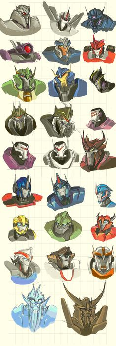 Sketch: Dem all... Transformers by RedShrike on deviantART