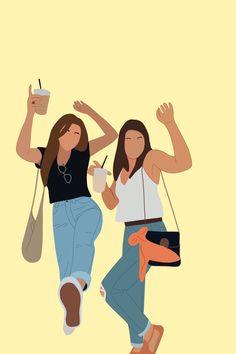 Woman Illustration, Portrait Illustration, Digital Art Girl, Digital Portrait, Girl Cartoon, Cartoon Art, Bff, Image Tumblr, Faceless Portrait