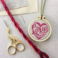 Stitch your own Heart pendant with this beautiful cross stitch kit. This kit is a perfect introduction to cross stitching or a lovey gift for the accomplished crafter. The kit contains everything you need to stitch this pretty pendant. The kit contains a choice of six designs, two kinds