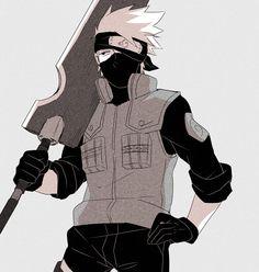 Kakashi with Zabusa's sword <3 #kakashi