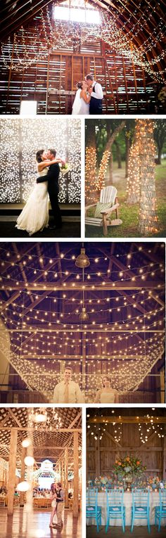 I love twinkle lights. And chivari chairs. Wedding Wishes, Wedding Bells, Fall Wedding, Rustic Wedding, Our Wedding, Dream Wedding, Wedding Stuff, Ibiza Wedding, Wedding Night