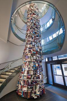"""tower of books"" Matej Kren  , Slovakia"