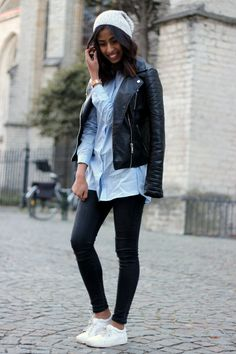 easy outfit street style beanie