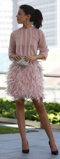 Cheap feather cocktail dress, Buy Quality pink short party dress directly from China cocktail dresses Suppliers: Feather Cocktail Dresses 2017 Custom Made Pink Short Party Dress Three Quarter Sleeves With Bow Back Graduation Dress For Teens Evening Dresses, Prom Dresses, Formal Dresses, Wedding Dresses, Short Dresses, Mode Outfits, Fashion Outfits, Womens Fashion, Party Fashion